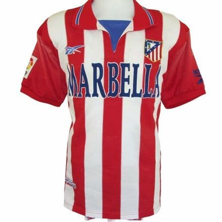1998-1999 Atletico Madrid Home Football Shirt, Reebok, Large (Mint Condition)